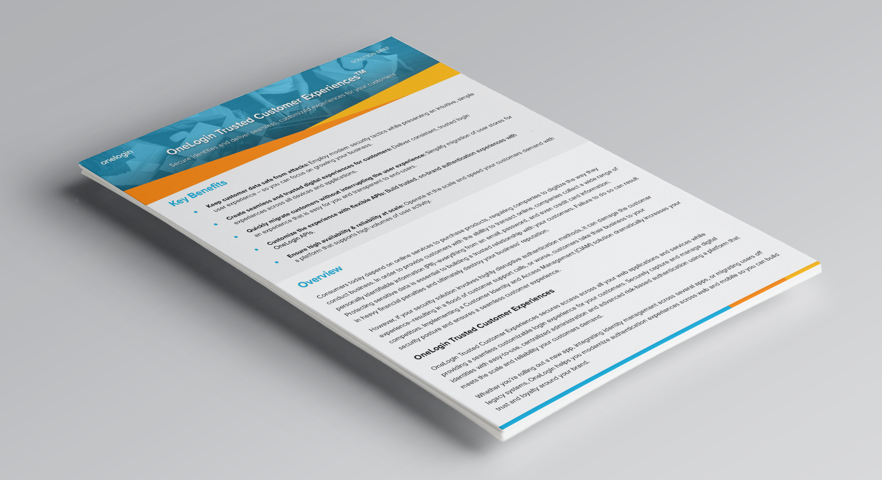 OneLogin Trusted Customer Experience Solution Brief